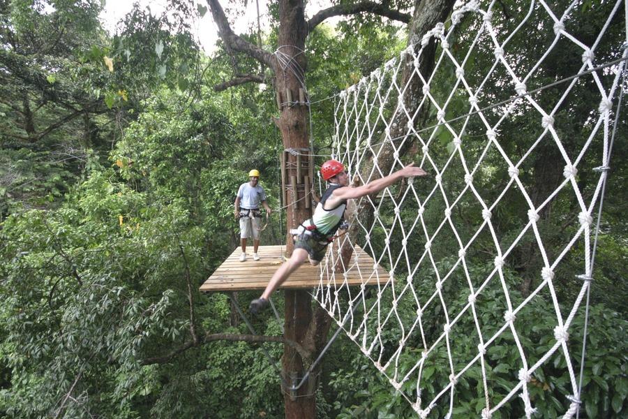 Zipline ... & Zip Line Canopy Tour | Red Frog Bungalows