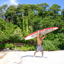 SUP on Red Frog Beach