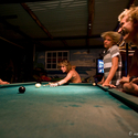 Shooting pool Red frog bungalows