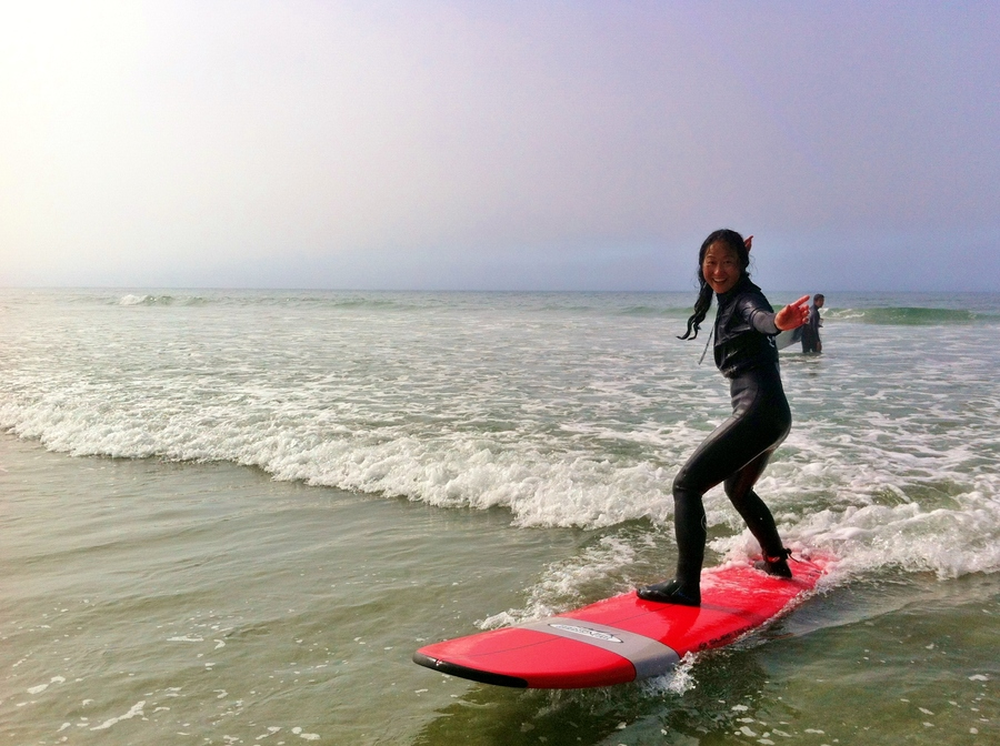 Satoko's surfer pose is top notch eh!