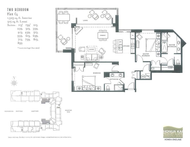 Honua kai 3 bedroom floor plans floor matttroy for Ocean house plans